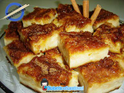 Receita de Pudim de pão diet